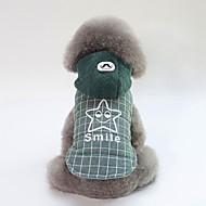 abordables -Chiens Manteaux Vêtements pour Chien Britannique / Slogan Gris / Vert Coton Costume Pour les animaux domestiques Unisexe Décontracté / Quotidien / Guêtres
