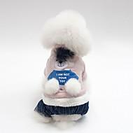 abordables -Chiens Manteaux Vêtements pour Chien Animal / Personnage Gris / Rose Coton Costume Pour les animaux domestiques Unisexe Guêtres / Style Simple