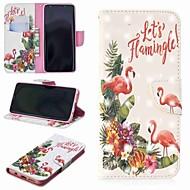 Недорогие Чехлы и кейсы для Galaxy S8 Plus-Кейс для Назначение SSamsung Galaxy S9 Plus / S8 Кошелек / Бумажник для карт / со стендом Чехол Фламинго Твердый Кожа PU для S9 / S9 Plus / S8 Plus