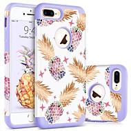 Недорогие Кейсы для iPhone 8 Plus-BENTOBEN Кейс для Назначение Apple iPhone 8 Plus / iPhone 7 Plus Защита от удара / С узором Кейс на заднюю панель Фрукты Твердый ПК / силикагель для iPhone 8 Pluss / iPhone 7 Plus