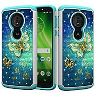 お買い得  携帯電話ケース-ケース 用途 Motorola MOTO G6 / Moto G6 Play 耐衝撃 / ラインストーン / パターン バックカバー バタフライ / ラインストーン ハード PC のために MOTO G6 / Moto G6 Play / Moto E5 Play