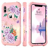 abordables Coques pour iPhone XS-étui bentoben pour apple iphone x / iphone xs antichoc / modèle / récepteur de charge sans fil couverture arrière fleur dure tpu / pc pour iphone xs / iphone x