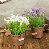 cheap -Artificial Flowers 1 Branch Classic / Single Rustic / Simple Style Lavender Tabletop Flower