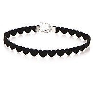 Women's Classic Choker Necklace Heart Cheap Ladies Doll's Lolita Black 30+5 cm Necklace Jewelry 1pc For Daily Festival