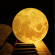 cheap LED Novelty Lights-12CM 3D Moon Lamp Bedroom Bookcase Night Light Creative New year's Christmas Gift