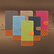Недорогие Кейсы для iPhone 8-Кейс для Назначение Apple iPhone XR / iPhone XS Max Бумажник для карт / Защита от удара / со стендом Чехол Однотонный / Геометрический рисунок Твердый текстильный для iPhone XS / iPhone XR / iPhone