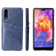 preiswerte Handyhüllen-Hülle Für Huawei P20 Kreditkartenfächer Rückseite Solide Hart Echtleder für Huawei P20