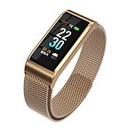 KUPENG B29S Unisexe Bracelet à puce Android iOS Bluetooth Sportif Imperméable Moniteur de Fréquence Cardiaque Mesure de la pression sanguine Ecran Tactile Podomètre Rappel d'Appel Moniteur d'Activit