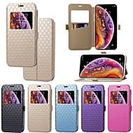 Недорогие Кейсы для iPhone 8 Plus-Кейс для Назначение Apple iPhone XR / iPhone XS Max Бумажник для карт / со стендом / Флип Чехол Однотонный / Плитка Твердый Кожа PU для iPhone XS / iPhone XR / iPhone XS Max