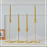 abordables Decoraciones en Madera-1pc Metal Moderno / Contemporáneo / Estilo Simple para Decoración hogareña, Decoraciones para el hogar Regalos