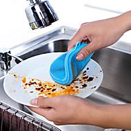 abordables Cocina y Comedor-Cocina Limpiando suministros Silicona Cepillo y Trapo de Limpieza Simple / Multifunción 1 paquete / 1pc