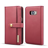 お買い得  -DG.MING ケース 用途 Samsung Galaxy S8 Plus ウォレット / カードホルダー / スタンド付き フルボディーケース ソリッド ハード PUレザー のために S8 Plus