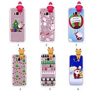 Недорогие Модные популярные товары-Кейс для Назначение SSamsung Galaxy S9 Plus / S8 Plus С узором / Своими руками Кейс на заднюю панель Рождество Мягкий ТПУ для S9 / S9 Plus / S8 Plus