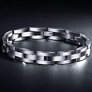 お買い得  -Z&(敏感肌に適しています)X®ヨーロピアンスタイルの豪華な1.5センチメートル幅チタン鋼のメンズブレスレット