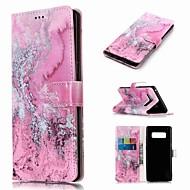 Custodia Per Samsung Galaxy Note 9 / Note 8 A portafoglio / Porta-carte di credito / Con supporto Integrale Effetto marmo Resistente pelle sintetica per Note 9 / Note 8