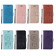 Недорогие Чехлы и кейсы для Galaxy Note 8-Кейс для Назначение SSamsung Galaxy Note 9 / Note 8 Кошелек / Бумажник для карт / со стендом Чехол Сова Твердый Кожа PU для Note 9 / Note 8 / Note 5
