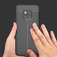 preiswerte Handyhüllen-Hülle Für Huawei Huawei Mate 20 Pro / Huawei Mate 20 Geprägt Rückseite Solide Weich PU-Leder für Mate 10 / Mate 10 pro / Mate 10 lite