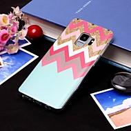 Недорогие Чехлы и кейсы для Galaxy S8-Кейс для Назначение SSamsung Galaxy S9 Plus / S9 IMD / Полупрозрачный Кейс на заднюю панель Полосы / волосы Мягкий ТПУ для S9 / S9 Plus / S8 Plus