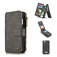 Недорогие Кейсы для iPhone 8 Plus-Кейс для Назначение Apple iPhone 8 / iPhone 8 Plus Кошелек / Бумажник для карт / Защита от удара Чехол Однотонный Твердый Настоящая кожа для iPhone 8 Pluss / iPhone 8 / iPhone 7 Plus