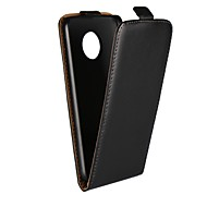 お買い得  携帯電話ケース-ケース 用途 Motorola G5 Plus / G5 スタンド付き / フリップ フルボディーケース ソリッド ハード 本革 のために Moto X4 / Moto X Play / Moto X / モトG5プラス