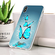 billige -Etui Til Apple iPhone XR Støvsikker / Ultratyndt / Mønster Bagcover Sommerfugl Blødt TPU for iPhone XR
