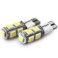 Недорогие Задние фонари-SENCART 4шт T10 Мотоцикл / Автомобиль Лампы 2 W SMD 5050 120 lm 9 Светодиодная лампа Лампа поворотного сигнала / Задний свет / Внутреннее освещение Назначение