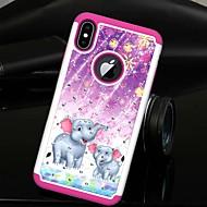 Недорогие Кейсы для iPhone 8 Plus-Кейс для Назначение Apple iPhone XS / iPhone XS Max Стразы / Полупрозрачный Кейс на заднюю панель Животное / Слон Твердый ТПУ / ПК для iPhone XS / iPhone XR / iPhone XS Max