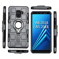Недорогие Чехлы и кейсы для Galaxy А-Кейс для Назначение SSamsung Galaxy A8 Plus 2018 / A8 2018 Защита от удара / Кольца-держатели Кейс на заднюю панель броня Мягкий ТПУ для A5(2018) / A8 2018 / A8+ 2018