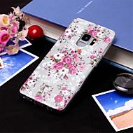 Недорогие Чехлы и кейсы для Galaxy S9-Кейс для Назначение SSamsung Galaxy S9 Plus / S9 IMD / Полупрозрачный Кейс на заднюю панель Цветы Мягкий ТПУ для S9 / S9 Plus / S8 Plus