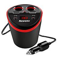 Недорогие Автомобильные зарядные устройства-Newmine Автомобиль Автомобильное зарядное устройство 2 USB порта для 5 V