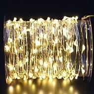 cheap -3m String Lights 60 LEDs Warm White Decorative AA Batteries Powered 1 set