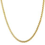 ieftine -Bărbați Coliere cu Pandativ Link / Lanț Modă Teak Auriu Negru Argintiu 55 cm Coliere Bijuterii 1 buc Pentru Cadou Zilnic
