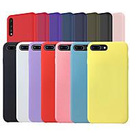 お買い得  携帯電話ケース-ケース 用途 Huawei P20 / P20 lite つや消し バックカバー ソリッド ソフト シリコーン のために Huawei P20 / Huawei P20 Pro / Huawei P20 lite