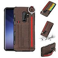 Недорогие Чехлы и кейсы для Galaxy S-Кейс для Назначение SSamsung Galaxy S9 Plus / S8 Plus Бумажник для карт Кейс на заднюю панель Однотонный Твердый текстильный для S9 / S9 Plus / S8 Plus