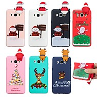 cheap Galaxy J Series Cases / Covers-Case For Samsung Galaxy J7 (2017) / J5(2016) Pattern Back Cover Christmas Soft TPU for J7 (2017) / J7 (2016) / J5 (2017)
