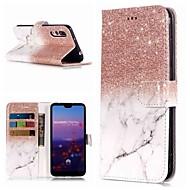 preiswerte Handyhüllen-Hülle Für Huawei P20 Pro / P10 Lite Geldbeutel / Kreditkartenfächer / mit Halterung Ganzkörper-Gehäuse Marmor Hart PU-Leder für Huawei P20 / Huawei P20 Pro / Huawei P20 lite