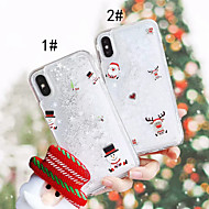 Недорогие Кейсы для iPhone 8-Кейс для Назначение Apple iPhone XS / iPhone XS Max Движущаяся жидкость / С узором Кейс на заднюю панель Рождество Твердый ПК для iPhone XS / iPhone XR / iPhone XS Max