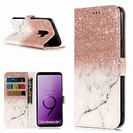 Недорогие Чехлы и кейсы для Galaxy S8 Plus-Кейс для Назначение SSamsung Galaxy S9 / S8 Plus Кошелек / Бумажник для карт / со стендом Чехол Мрамор Твердый Кожа PU для S9 / S9 Plus / S8 Plus