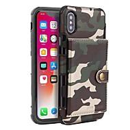 Недорогие Кейсы для iPhone 8-Cooho Кейс для Назначение Apple iPhone X / iPhone XS Max Бумажник для карт / Защита от удара / Защита от пыли Чехол Камуфляж Твердый Кожа PU / ПК для iPhone XS / iPhone XS Max / iPhone X