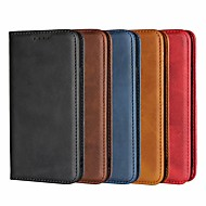 cheap -Case For Apple iPhone 8 Plus / iPhone XS / iPhone XR Wallet / with Stand / Magnetic Full Body Cases Solid Colored Hard PU Leather for iPhone XS / iPhone XR / iPhone XS Max