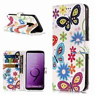 Недорогие Чехлы и кейсы для Galaxy S-Кейс для Назначение SSamsung Galaxy S9 / S8 Plus Кошелек / Бумажник для карт / со стендом Чехол Бабочка Твердый Кожа PU для S9 / S9 Plus / S8 Plus