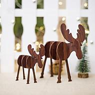 abordables -Décorations de vacances Décorations de Noël Décorations de Noël Décorative Marron / Café 2pcs