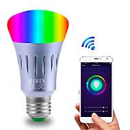 お買い得  LED ボール型電球-スマートwifi電球rgbwアプリコントロールdimmable e27 / e26 led電球アレクサgoogleホームで1600万色ac 85-265v