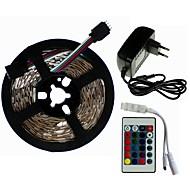 billige -SENCART 5 m Lyssæt 300/150 lysdioder SMD5050 1 24Køler fjernbetjening / 1 x 2A strømadapter RGB Chippable / Dekorativ / Koblingsbar 100-240 V 1set
