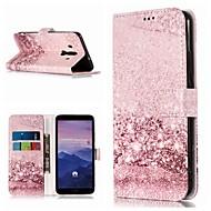 お買い得  携帯電話ケース-ケース 用途 Huawei Mate 10 lite / Mate 9 Pro ウォレット / カードホルダー / スタンド付き フルボディーケース マーブル ハード PUレザー のために Mate 10 / Mate 10 pro / Mate 10 lite