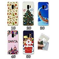 Недорогие Модные популярные товары-Кейс для Назначение SSamsung Galaxy S9 Plus / S9 С узором Кейс на заднюю панель Рождество Мягкий ТПУ для S9 / S9 Plus / S8 Plus