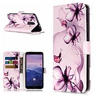 preiswerte Handyhüllen-Hülle Für Huawei Mate 10 Lite / Mate 9 Pro Geldbeutel / Kreditkartenfächer / mit Halterung Ganzkörper-Gehäuse Blume Hart PU-Leder für Mate 10 / Mate 10 pro / Mate 10 lite
