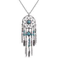 abordables -Femme Turquoise Pendentif de collier - Attrapeur de rêves Ethnique Argent 78 cm Colliers Tendance Bijoux 1pc Pour Quotidien