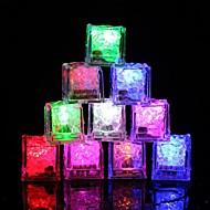halpa LED-yövalot-12kpl DIY värikäs flash johti jääkuutioita häät festivaali sisustus osapuoli rekvisiitta valoisa led hehkuva induktio jääkuutioita uudenvuoden bar