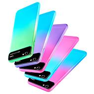 Недорогие Кейсы для iPhone 8-Кейс для Назначение Apple iPhone XR / iPhone XS Max С узором Кейс на заднюю панель Градиент цвета Твердый ПК для iPhone XS / iPhone XR / iPhone XS Max